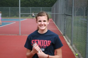 Madilyn Sayler is the Black Hills Wolves number one singles player.  She made the transition to single play after her doubles partner, Julie Hansen, graduated.