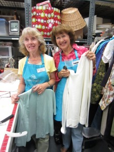 Longtime volunteers, and best friends, Linda and Arline can be found in the Olympia store every Wednesday.