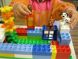 Fifteen sets of LEGO® bricks – 10,000 in each set – has kids going creative.
