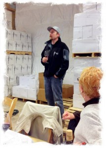 Winemaker Dana Roberts gives a tour of Westport Winery.
