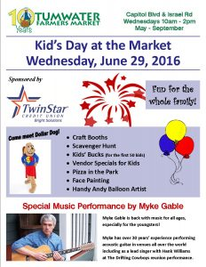 Kid's Day @ Tumwater Farmers Market | Tumwater | Washington | United States