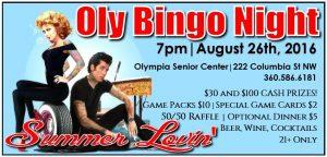 OlyBingo Night - Summer Lovin' @ Olympia Senior Center | Olympia | Washington | United States
