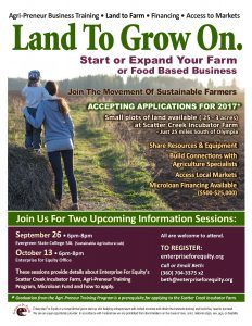 Incubator Farmland and Agri-preneur Training Info Session @ The Evergreen State College Sustainable Agriculture Lab  | Olympia | Washington | United States