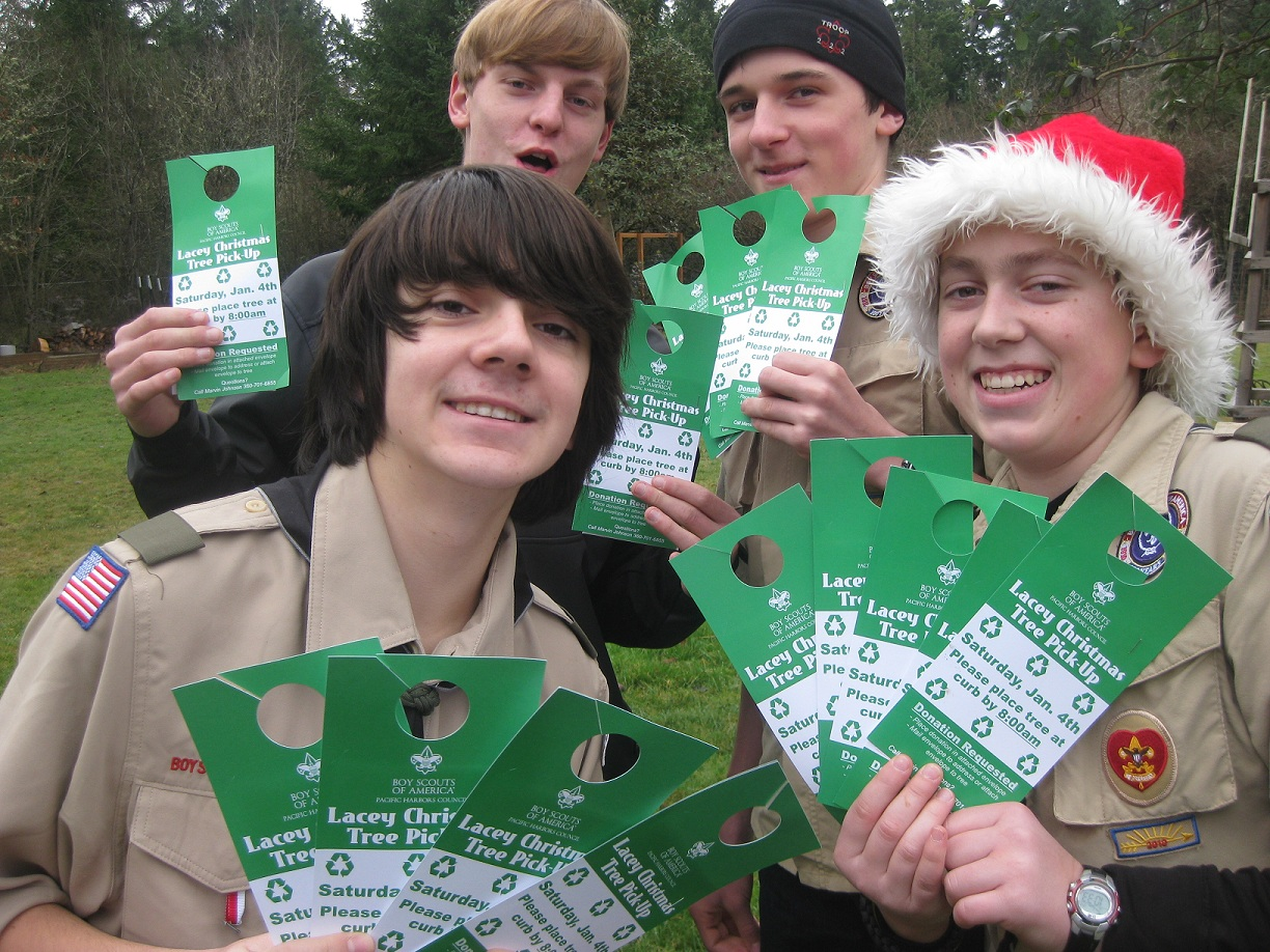 lacey christmas tree recycling lacey residents are eligible for boy scout - Boy Scout Christmas Trees