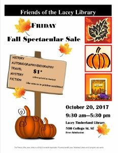 Fall Spectacular Book Sale @ Lacey Timberland Library | Lacey | Washington | United States