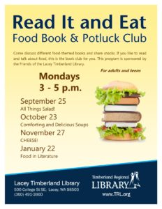 Read It and Eat: Food Book and Potluck Club @ Lacey Timberland Library | Lacey | Washington | United States