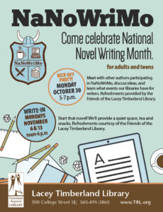 NaNoWriMo Write-In @ Lacey Timberland Library | Lacey | Washington | United States