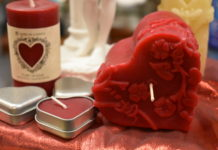 radiance herbs and massage candles valentine's