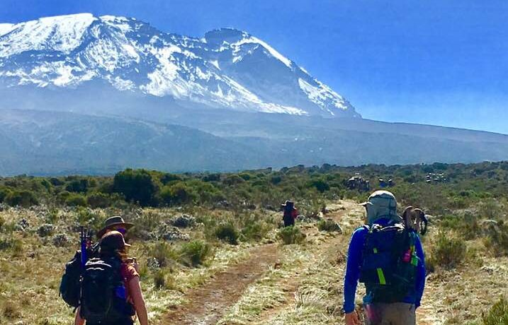 Zack Forbush and Kris Ammons Just getting started on Mt Kilimanjaro