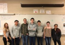 Tumwater High School Knowledge Bowl Club members