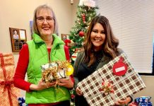 SCJ Alliance Janis Smeall and Alissa North at SCJ giving tree