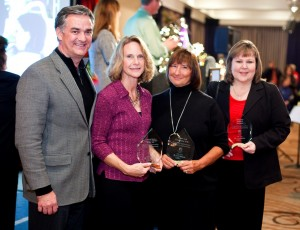 Lori Drummond (right) is pictured with other Providence Christmas Forest sponsors Ken and Nancy Anderson, Coldwell Banker Evergreen Olympic Realty and  Joyce Targus, Frost & Company. Photo courtesy: Providence.