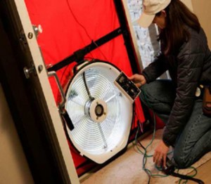 Using a Blower Door can help your Energy Auditor find areas where heat is escaping your home.