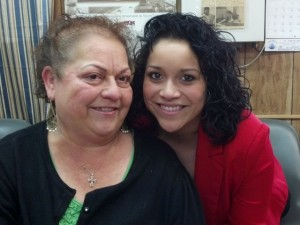 Maggie Velasco-Lucero (left) began Jalisco Tortillas fifteen years ago.  The family business has now grown to include her daughter Erica Lucero (right) and other family members.