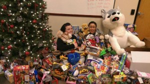 Xerox employees pulled together for a toy drive during the holidays.