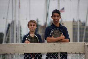 "Standing at 5'2"", Olympia High School sophomore Ryan Adams (left) is one of the top players in the area and the number two singles player on the Bears tennis team.  The number one player is freshmen Jamie Bautista, who, like Adams, has impressed longtime head coach Denny Bailey with his talent and mental approach."