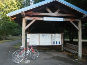 The Trailhead at Chambers Lake is just one of many easy access points along the Chehalis-Western Trail.