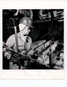 Leatta Dahlhoff's grandmother, Leatta Haskins, was one of the first female welders at the Puget Sound Naval Shipyard.  Photo - Released Official Navy Photo.  Official US Navy Photograph, Puget Sound Naval Shipyard, Bremerton, Washington.
