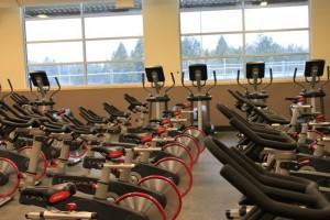 Capital High School Weight Room bikes