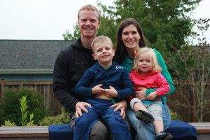 Dr. Stephan Russell with his wife Katie, son Peyton (5) and Allison (2).