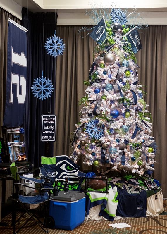 Seahawks Christmas Tree.Providence Raises Record Funds During Christmas Forest
