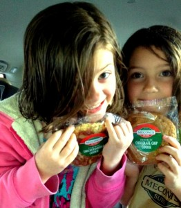 Cookies, baked daily in the Meconi's bakery, are one reason kids love dinner at the local sub shop.
