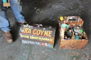 olympia sign painter