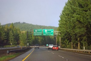 WA highway 8 junction with US 101