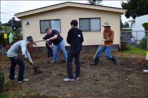 Students from Northwest Christian High School joined forces with Rebuilding Together Thurston County to help neighbors in need.