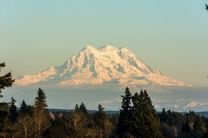 View Mt. Rainier from Tumwater Overlook Park.