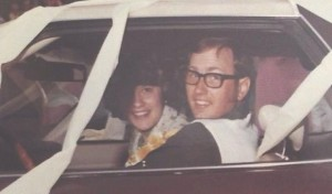 Peggy and Mike Miller on their wedding day over 40 years ago.