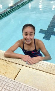 Capital High School freshman Naomi Reyes swims competitively with The Evergreen Swim Club.