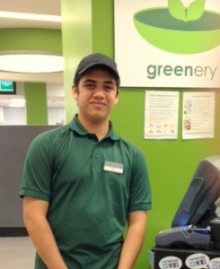 Project SEARCH Student Harley's first internship is in The Greenery, one of TESC's most active food service locations.
