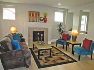 design smart living room fireplace