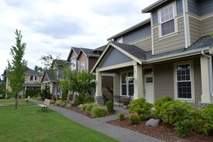 At Villages at South Hill, homes have upscale features and low maintenance lawns for retirees and active young families. Photo Credit: Barb Lally
