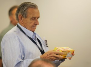 Friends presented Dick Kay with a block of Velveeta cheese during his retirement celebration because he apparently had luck using it as fishing bait in Utah.