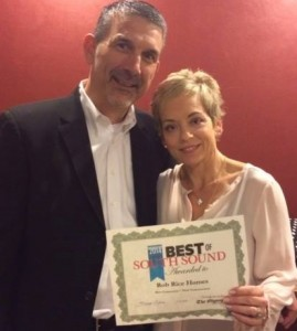 Rob and Helena Rice received top honors from the community where they build superior homes.