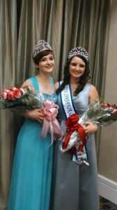 Madeline poses with the 2014 Lakefair queen Madi Murphy after the coronation ceremony