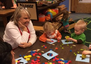 """Norma Larson appreciates the fact that, at Eastside Co-op Preschool, """"Everyone is a teacher and a learner!"""""""