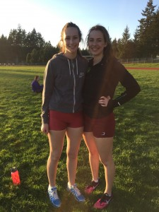 Hannah (left) and Haley (right) enjoy competing on the Capital High School Track and Field team together.