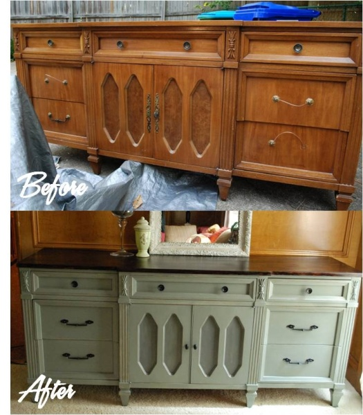 An Old And Tired Piece Gets New Life With A Coat Of Paint