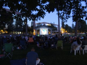 outdoor movie olympia