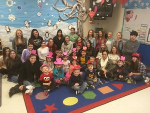 The Oly Bear Preschool and their Early Childhood Education buddies celebrate Valentine's Day together.