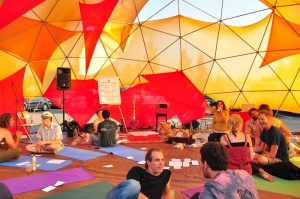 The Dome offers a quiet place of meditation and relaxation with yoga classes throughout the day.