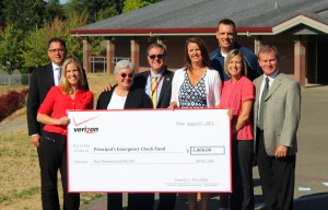 OSDEF thanks Verizon for their generous donation to the Principal's Checkbook Fund.