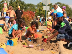 Sand in the City is a weekend-long free held at the Hands On Children's Museum in downtown Olympia.