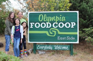 The Kim family (clockwise l-r: Amanda, Ron, Serean and Melodi) is very grateful to the Olympia Food Coop's east side location for stocking their products and carrying many of their ingredients.