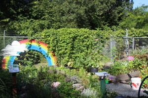 The Dirt Works Children's Garden combines fun with learning.