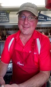 Dingey's Dan Ricklick serves Northwest favorites for breakfast including maple syrup cured Sockeye.