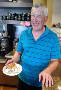 Forza's Tom Forrey bakes a variety of quiches for customers at their Hawk's Prairie location.